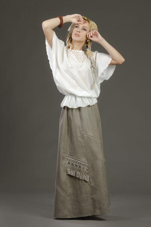 """Skirt women's """"Springs"""" handmade lace"""