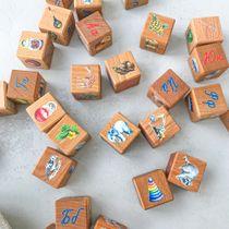 "Dice ""My first alphabet"", 30 PCs in a linen pouch"