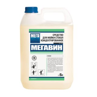 Means for washing glasses and mirrors 5 l, MEGAVIN, concentrate