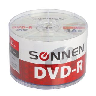 SONNEN / DVD-R discs 4,7 Gb 16x Bulk, KIT 50 pcs.