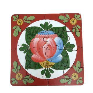 "Souvenir puzzles ""Volkhovsky rose tree No. 4"" hand-painted"