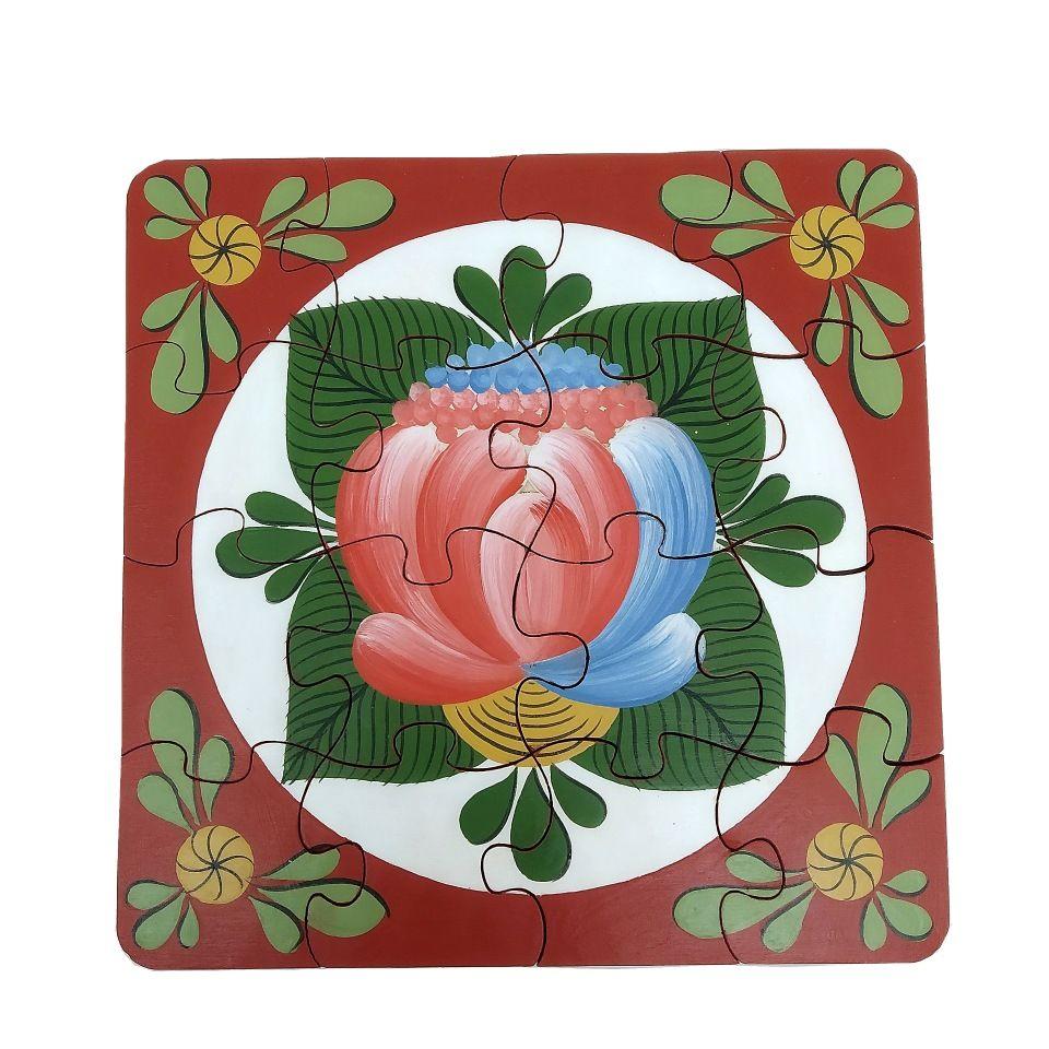 "Volkhov painting / Souvenir puzzles ""Volkhov rose tree No. 4"" hand-painted"