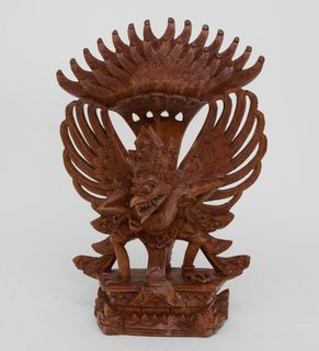 "The wooden statue of ""Garuda - the sacred bird"" 30 cm"