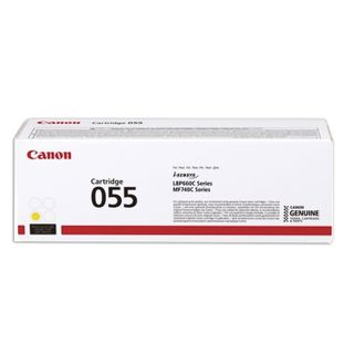 Laser cartridge CANON (055Y) for LBP663 / 664 / MF742 / 744/746, yellow, original, yield 2100 pages