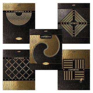 Notebook A5, 48 sheets, HATBER, staple, cage, 3D foil, 3D varnish,