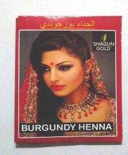 Hair dye based on Indian henna (Burgundy)