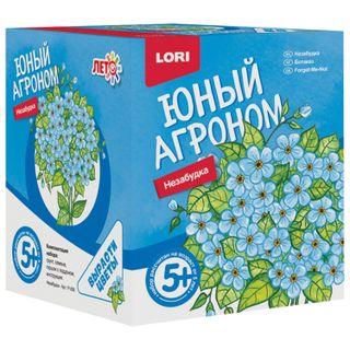 Kit for growing plants the YOUNG AGRONOMIST Nezabudka, pot, soil, seeds, LORI