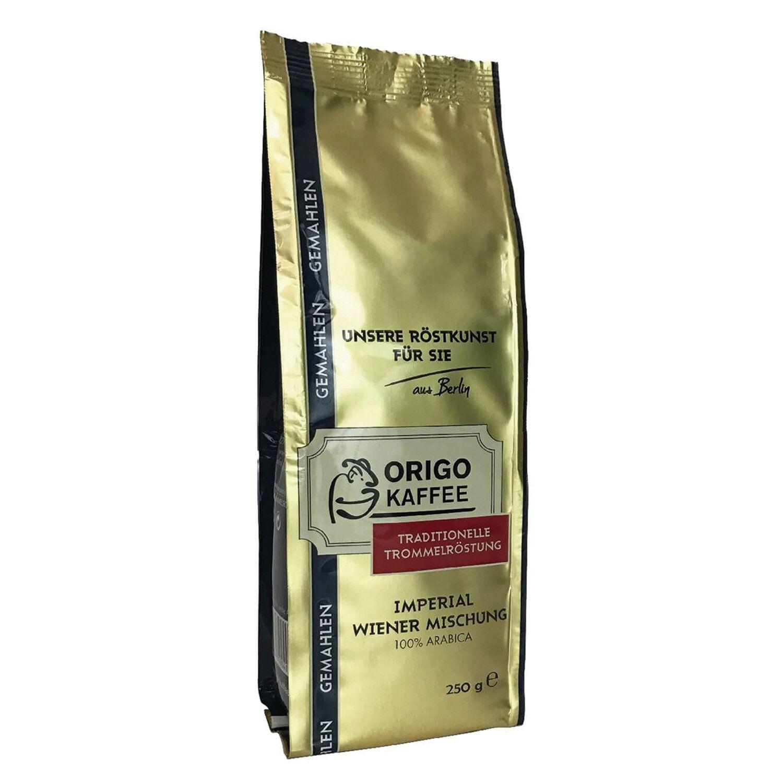 """ORIGO / Ground coffee """"Imperial Wiener"""" arabica 100%, vacuum package 250 g"""