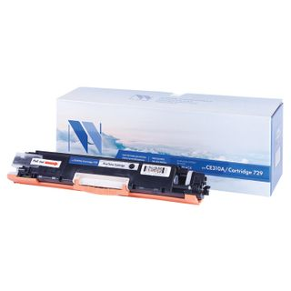 Toner Cartridge NV PRINT (NV-CE310A / 729Bk) for HP M175nw / CP1025nw / CANON LBP7010C, black, yield 1200 pages