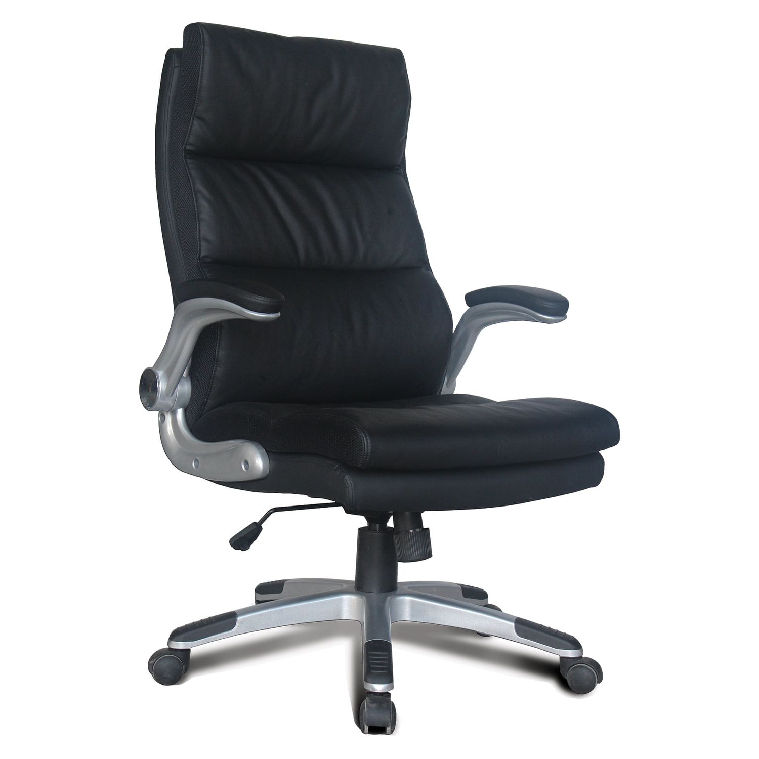 """Office chair BRABIX """"Fregat EX-510"""", recycled leather, black"""