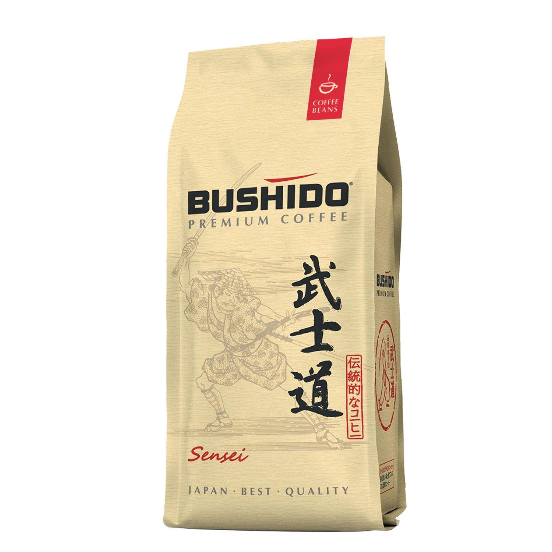 """BUSHIDO / Coffee beans """"Sensei"""", natural, 227 g, 100% Arabica, vacuum packed"""