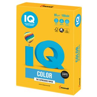 IQ COLOR / A4 paper, 80 g / m2, 100 sheets, intensive, sunny yellow