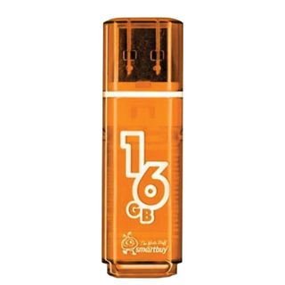 SMARTBUY / Flash Drive 16 GB, Glossy, USB 2.0, Orange