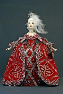 Porcelain doll 'Maid of honor 18th century, Rococo era'