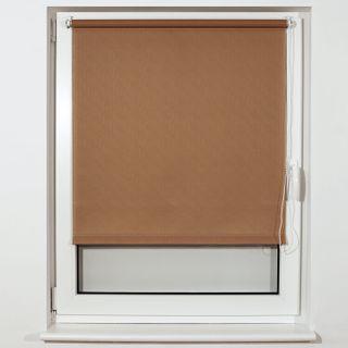 BRABIX 120x175 cm roll curtain, texture - lynn, protection 55-85%, 200 g/m2, dark beige