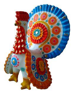 Dymkovo clay toy, the Turkey large