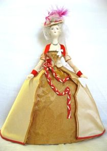 Doll gift. Women's dress for visits of the mid-18th century, Austria. The Germans.