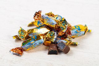 Sweets Slad Miks Volga-Volga jelly in chocolate icing orange 190gr