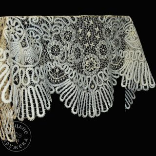 Lace tablecloth white with gold