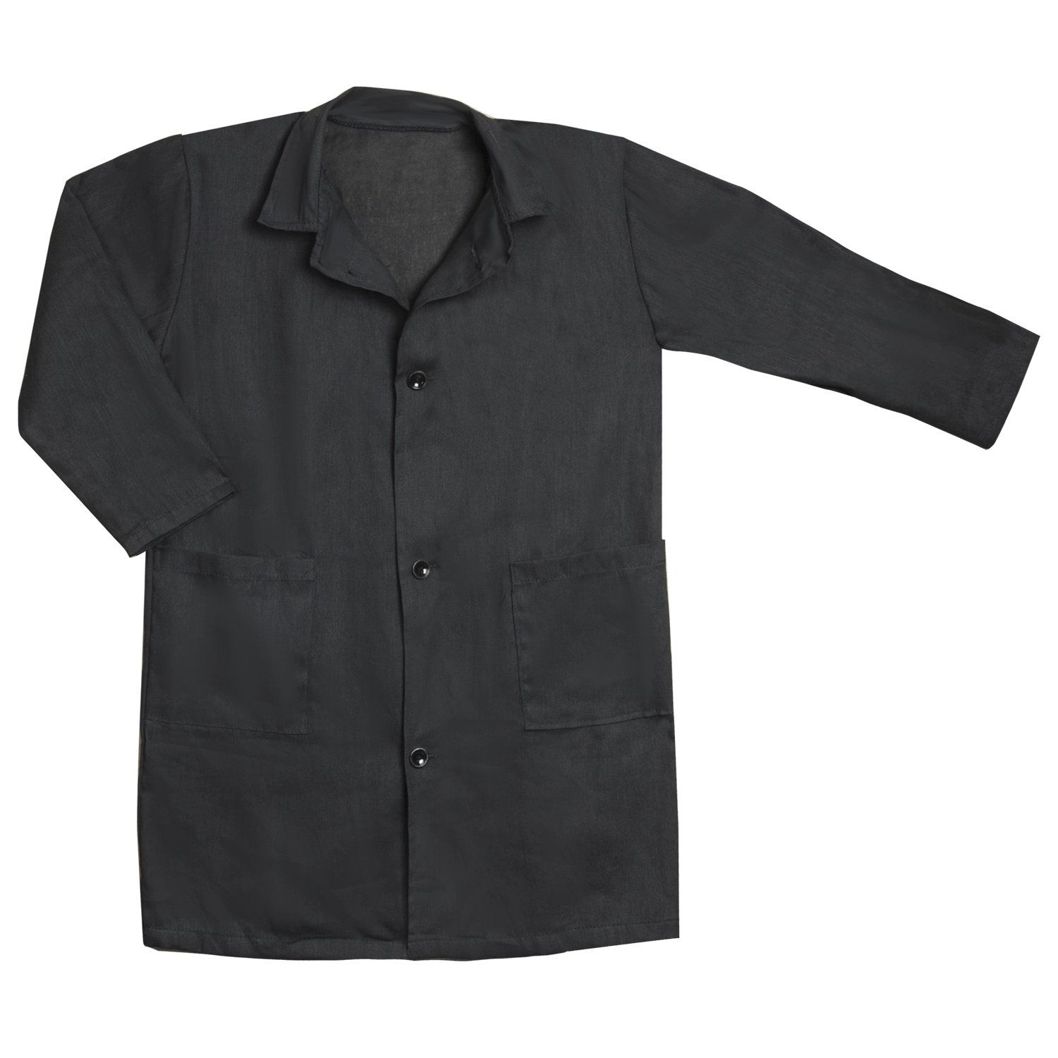 Bathrobe the school for classroom work, height 158-164, calico, TC, black