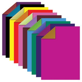 Colored paper A4 two tone COATED (glossy), 10 sheets, 20 colors, folder, 210x297 mm, TREASURE ISLAND