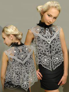 Womens vest lace С1757