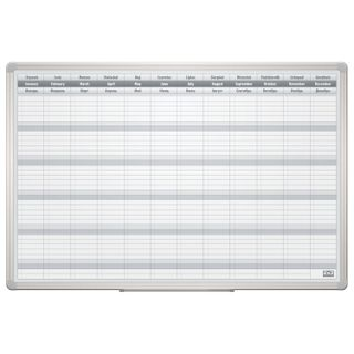 Board of planing FOR the YEAR magnetic marker (60x90 cm), aluminum frame, OFFICE,