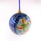 Christmas ball Palekh, 8*8cm, master Rybakin