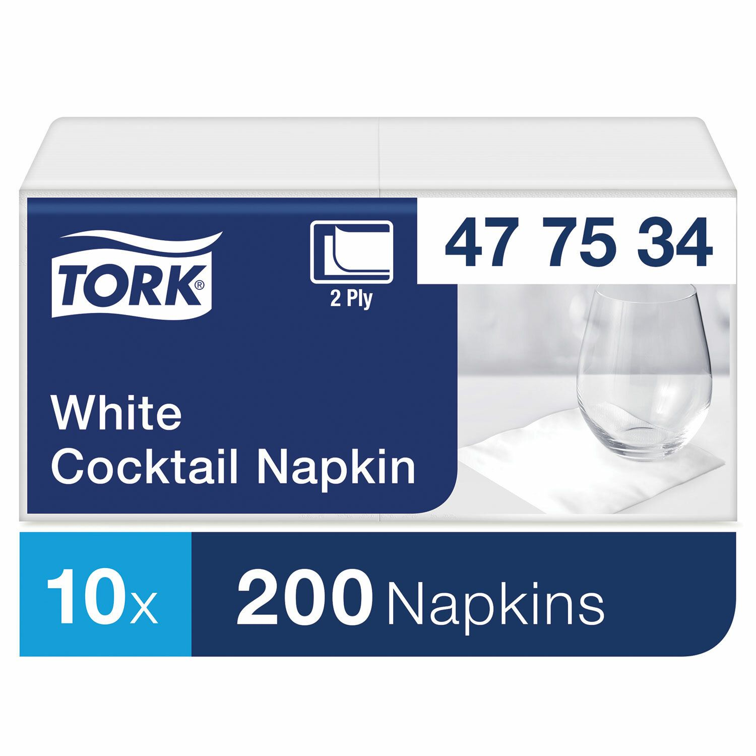 TORK / Napkins Big Pack, 24x23.8 2-ply white, 200 pcs.