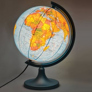 DMB / Globe physical / political, diameter 250 mm, with illumination (licensed by the State Unitary Enterprise PKO