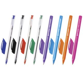 Ball point pens oil BRAUBERG, SET of 8 PCs, ASSORTED,