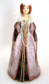Doll gift. Women's court dress. The second half of the 16th century. France.