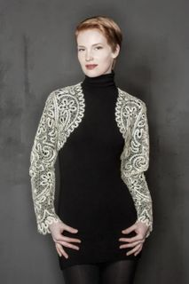 Womens lace Bolero with floral and vegetable ornaments