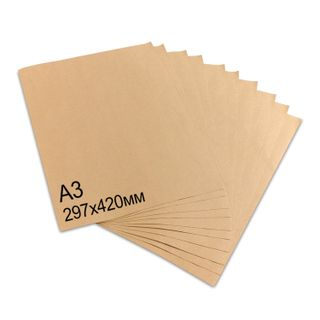 BRAUBERG / Kraft paper in sheets A3, 297x420 mm, density 78 g / m2, 100 sheets