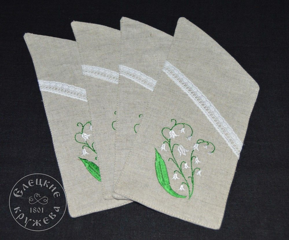 "Yelets lace / Pocket for cutlery ""Lily of the valley"""