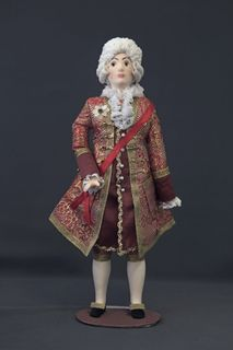Doll gift porcelain. Men's ceremonial costume (Count Orlov). The mid-18th century.