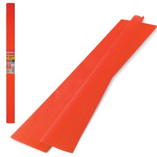 Colored paper crepe dense, stretching up to 45%, 32 g/m2, BRAUBERG, roll, orange, 50h250 cm