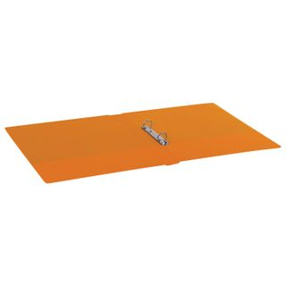 Folder on the 2 rings BRAUBERG, cardboard/PVC, 35 mm, orange, up to 180 sheets (double life)