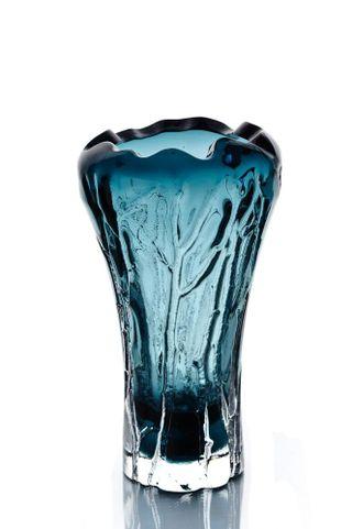 """Crystal decorative vase """"Etude"""" large smoky"""