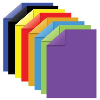 Colored paper A4 2-sided coated (glossy), 16 sheets 8 colors, on a bracket, BRAUBERG, 200х280 mm