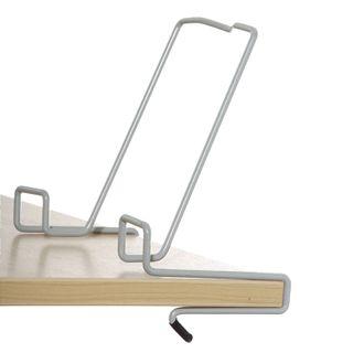 DEMI book stand, metallic, grey