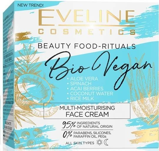 Deeply moisturizing face cream day/night series bio vegan, Eveline, 50 ml