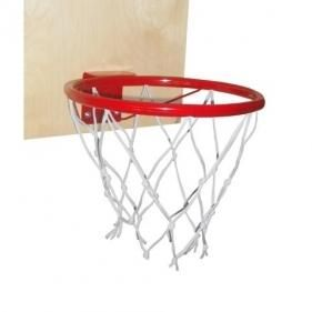 Basketball ring with shield