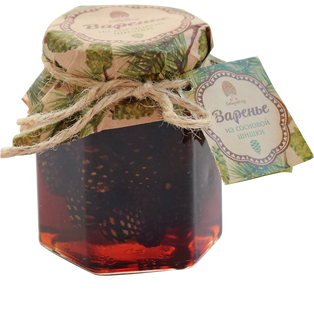 Siberian jam from pine cones with pine nuts 200g