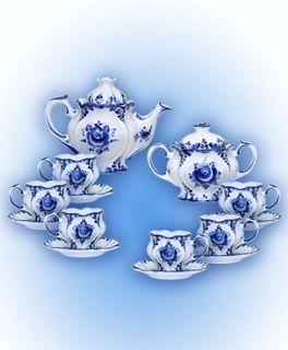 The Flower tea set, 14 pieces