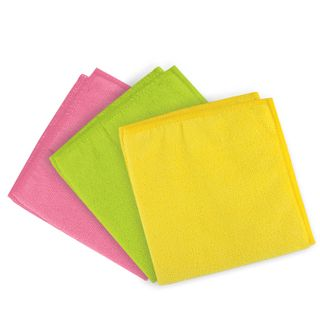 LIME / Universal napkin, dense microfiber, 30x30 cm, assorted (yellow, green, pink)