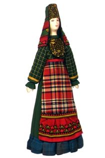Souvenir Doll. Women's costume sir ANS. 19 milestones. The Udmurts.