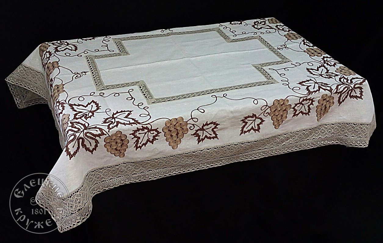 Yelets lace / Linen tablecloth С2180