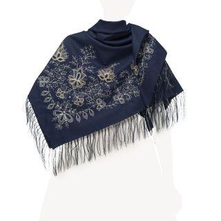 Garden of Eden shawl dark blue