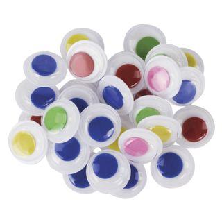 Eyes for creativity, swivel, 15 mm, 30 PCs., colored, TREASURE ISLAND